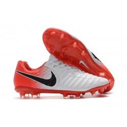 Nike Tiempo Legend 7 FG Zapatillas de Fútbol para Hombre Blanco Rojo Negro