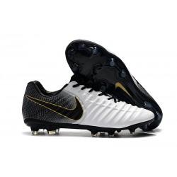 Botas de fútbol Nike Tiempo Legend VII FG Blanco Negro Oro