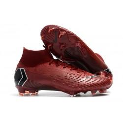 Botas de fútbol Nike Mercurial Superfly VI 360 Elite FG Rojo Vino