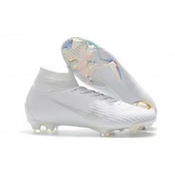 Botas de fútbol Nike Mercurial Superfly VI 360 Elite FG Todo Blanco