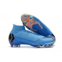 Botas de fútbol Nike Mercurial Superfly VI 360 Elite FG Azul Negro
