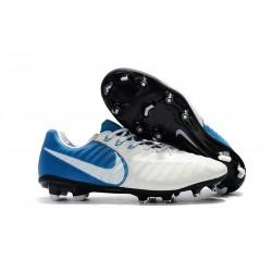 Zapatillas de Fútbol Nike Tiempo Legend VII FG Blanco Azul