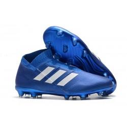 Botas de fútbol Baratas adidas Nemeziz 18+ FG - Azul Blanco