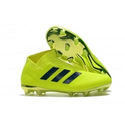 Botas de fútbol Baratas adidas Nemeziz 18+ FG - Verde Negro