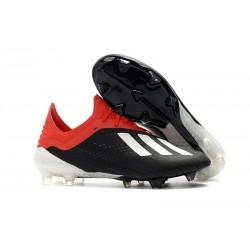Botas de fútbol Adidas X 18.1 FG Para Hombre Blanco Negro Rojo