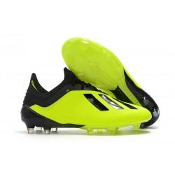 Botas de fútbol Adidas X 18.1 FG Para Hombre Amarillo Negro