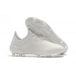 Botas de fútbol Adidas X 18.1 FG Para Hombre Todo Blanco