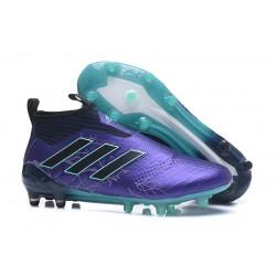 Bota de fútbol ACE 17+ Purecontrol Para Hombres Negro Azul