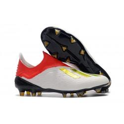 Botas de fútbol adidas X 18+ FG Oro Blanco Rojo