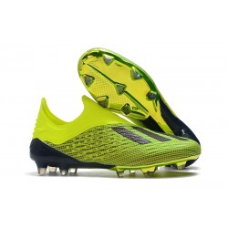 Botas de fútbol adidas X 18+ FG Solar Amarillo Core Negro
