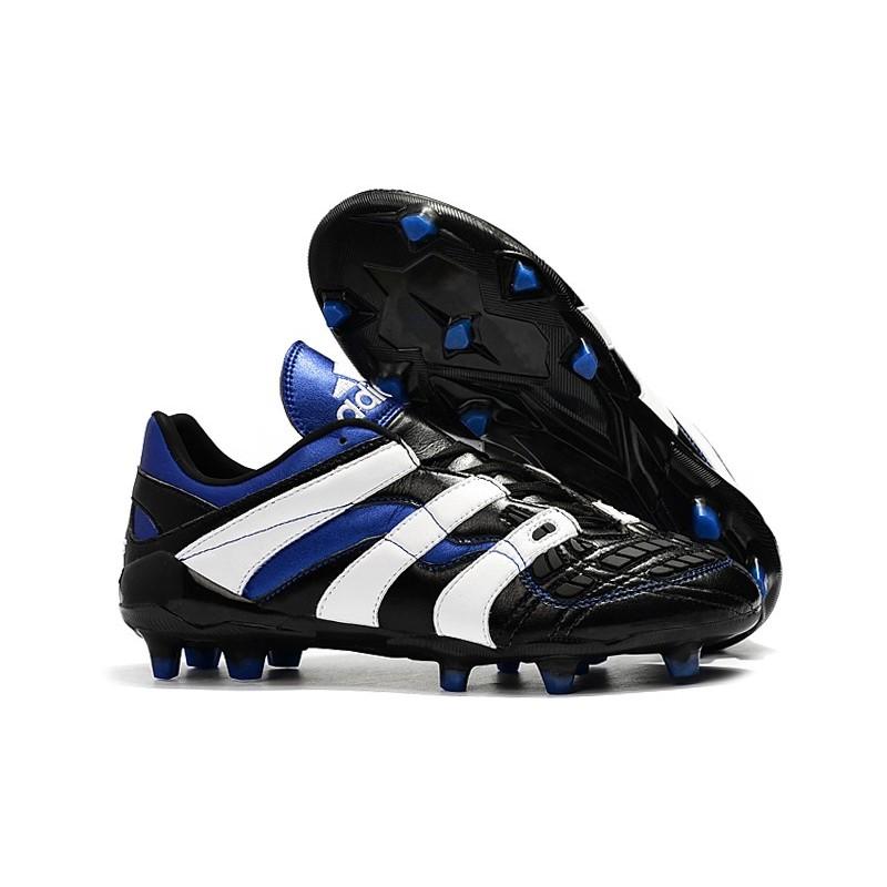 Activo hoy cebolla  Botas de fútbol Baratas - Adidas Predator Accelerator Electricity FG Negro  Blanco Azul