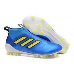 Bota de fútbol ACE 17+ Purecontrol Para Hombres Azul Amarillo Blanco