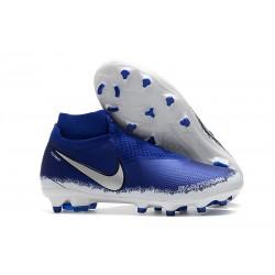 Botas de fútbol para Hombre Nike Phantom Vision Elite DF FG Negro Plateado Azul