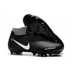 Botas de fútbol para Hombre Nike Phantom Vision Elite DF FG Negro Rojo Blanco