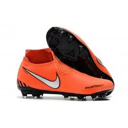 Botas de fútbol para Hombre Nike Phantom Vision Elite DF FG Rojo Negro Blanco