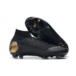 Botas de fútbol Nike Mercurial Superfly VI 360 Elite FG Oro Negro
