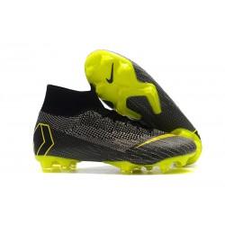 Botas de fútbol Nike Mercurial Superfly VI 360 Elite FG Gris Amarillo