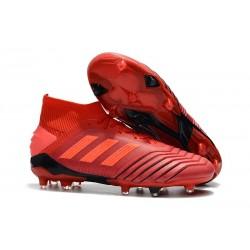 Zapatillas de fútbol adidas Predator 19.1 FG Rojo Rojo Solar Negro
