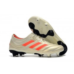 Zapatillas de fútbol Adidas Copa 19.1 FG Blanco Rojo Negro