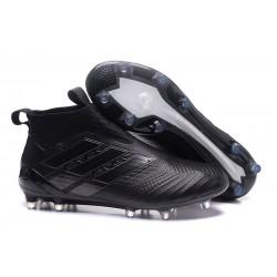 Calzado De Fútbol Ace 17+ Purecontrol Terreno Firm Todo Negro