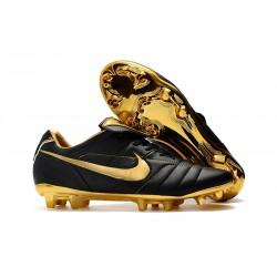 Botas de fútbol Nike Tiempo Legend VII R10 Elite FG Negro Oro Metalizado