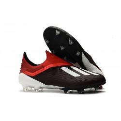 Botas de fútbol adidas X 18+ FG Negro Rojo Blanco