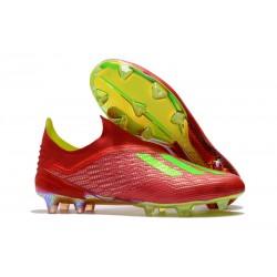 Botas de fútbol adidas X 18+ FG Rojo Verde