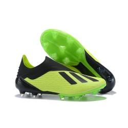 Botas de fútbol adidas X 18+ FG Verde Eléctrico Negro Lima