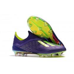 Botas de fútbol adidas X 18+ FG Púrpura Verde