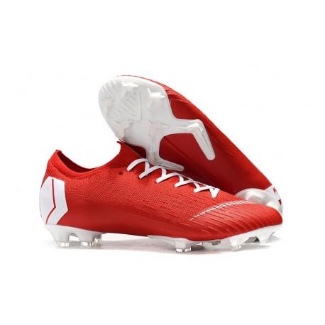 Botas de Fútbol Nike Mercurial Vapor XII 360 Elite FG Rojo Blanco