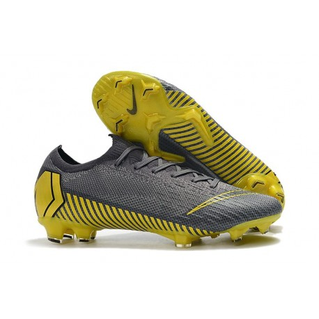 Botas de Nike Mercurial Vapor 12 Elite FG Gris Negro Gris Oscuro