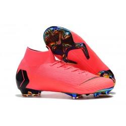 Nike Mercurial Superfly 6 Elite FG Zapatos de Fútbol - Rosa Negro
