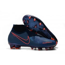 Botas de fútbol para Hombre Nike Phantom Vision Elite DF FG Azul Rojo