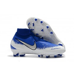 Zapatillas de fútbol Nike Phantom VSN Elite DF FG Azul Plata Blanco