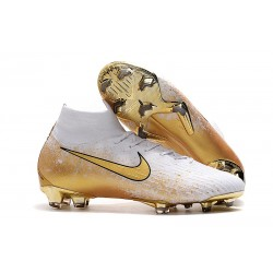Nike Mercurial Superfly 6 Elite FG Zapatos de Fútbol - Blanco Oro