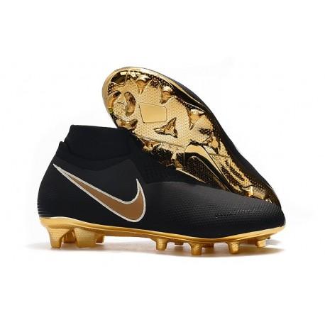 Nike Phantom VSN Elite DF FG Botas de Fútbol - Negro Oro