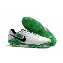 Nike Tiempo Legend VII FG Botas de Fútbol para Hombre Blanco Verde Negro