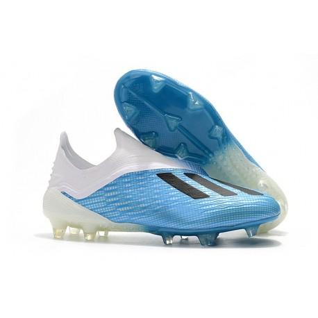 Botas de fútbol adidas X 18+ FG Azul Blanco Negro