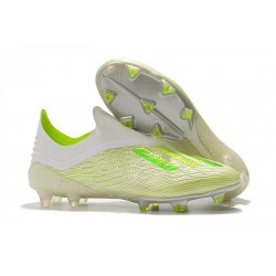 Botas de fútbol adidas X 18+ FG Blanco Verde
