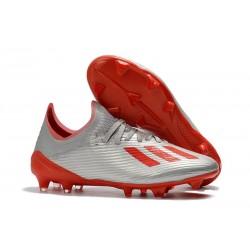 Botas de Fútbol Adidas X 19.1 FG Argento Rojo