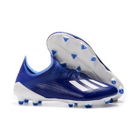 Botas de Fútbol Adidas X 19.1 FG Azul Blanco