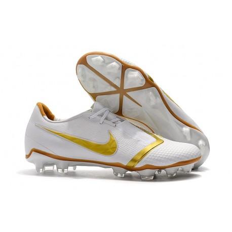 Nike Zapatillas de Futbol Phantom Venom Elite FG Blanco Oro