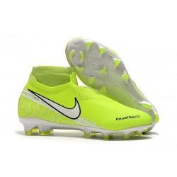 Nike Phantom VSN Elite DF FG Botas de Fútbol - Amarillo Fluorescente Blanco