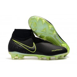 Nike Phantom VSN Elite DF FG Botas de Fútbol - Amarillo Fluorescente Negro