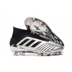 Botas de Fútbol adidas Predator 19+ FG Argento Negro