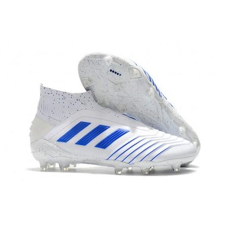 Botas de Fútbol adidas Predator 19+ FG Blanco Azul
