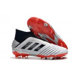 Botas de Fútbol adidas Predator 19+ FG Argento Rojo Negro