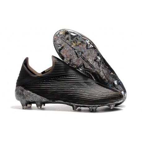 Botas de fútbol Nuevo Adidas X 19+ FG Negro