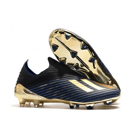 Botas de fútbol Nuevo Adidas X 19+ FG Azul Negro Oro