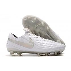 Botas de Fútbol Nike Tiempo Legend 8 Elite FG Blanco Platino Gris